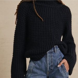 Anthropologie Maeve Dionne Bell Sleeve Sweater Sm